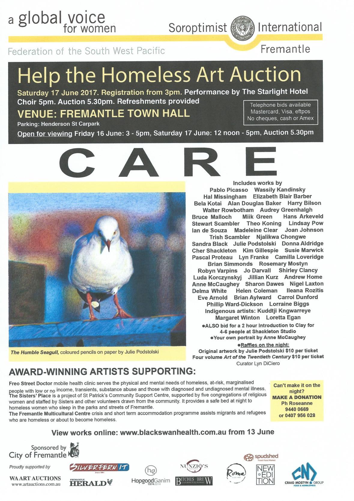 Homeless Auction 2017 flyer